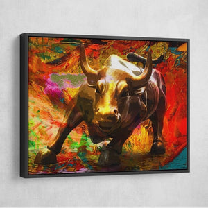 Tablou canvas BULL RALLY