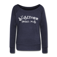 Women's Wideneck Sweatshirt - melange navy
