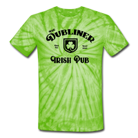 Unisex Tie Dye T-Shirt/ Color Options - spider lime green