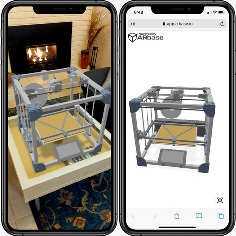 Screenshot of Onshape Assembly as Augmented Reality models