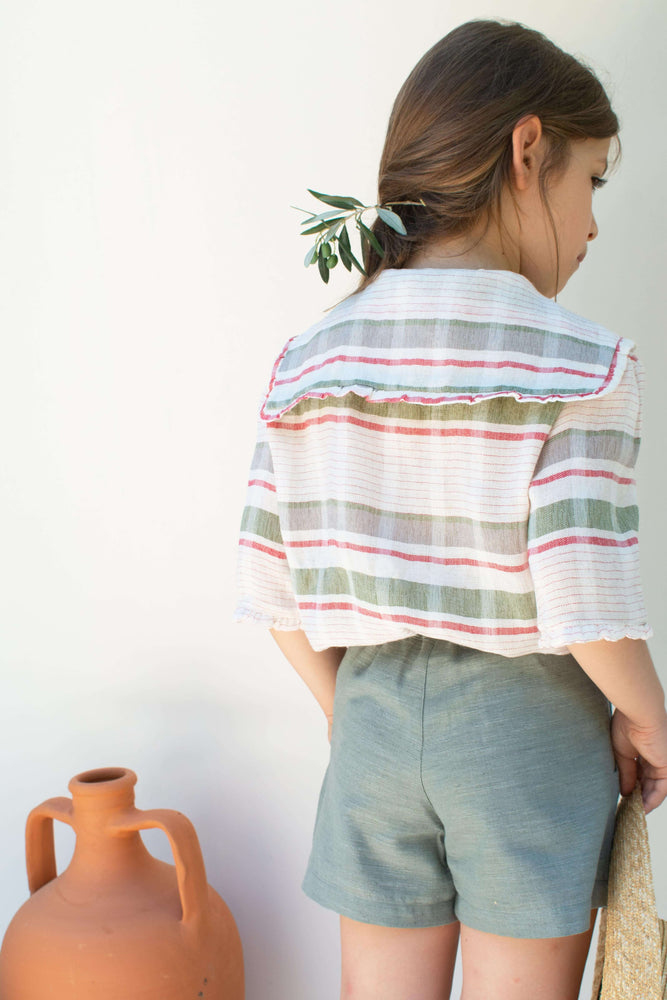 Green Stripe Blouse - Aria