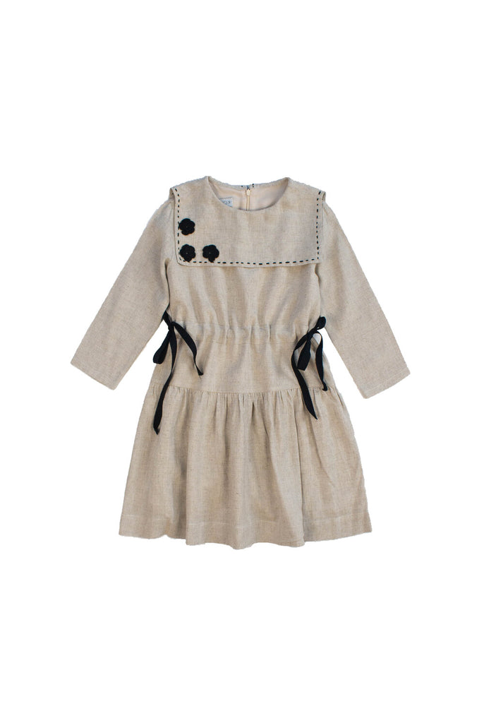 Poppy Dress Beige