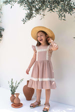 Terracotta Stripes Cotton Dress - Olivia
