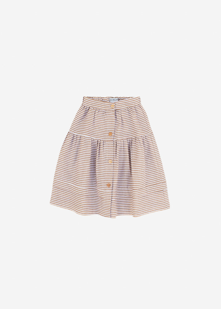 Striped Beige Skirt - Olivia