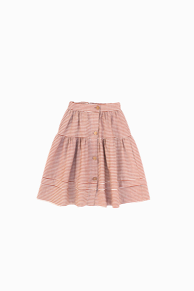 Striped Terracotta Skirt - Olivia