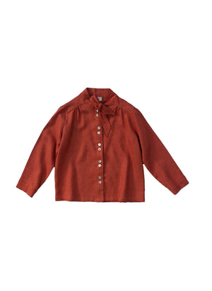 Load image into Gallery viewer, Annabelle Blouse Redbrick