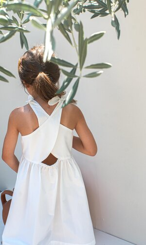 Load image into Gallery viewer, White Poplin Dress - Paros