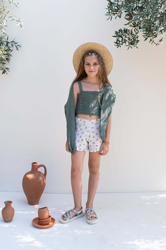 Load image into Gallery viewer, Olive Leaf Linen Shorts - London