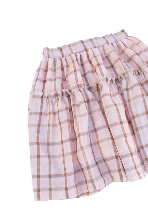 Load image into Gallery viewer, Pink Plaid Skirt - Amelia