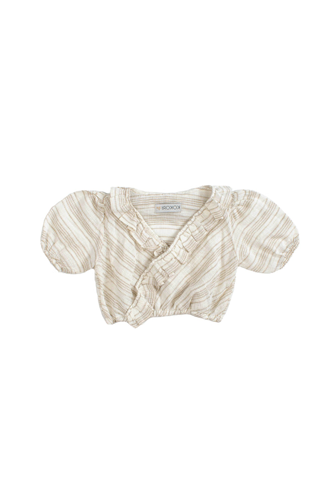 CROP TOP- BEIGE LINEN