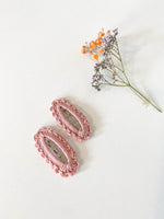 Hair Clips, Blush Oval