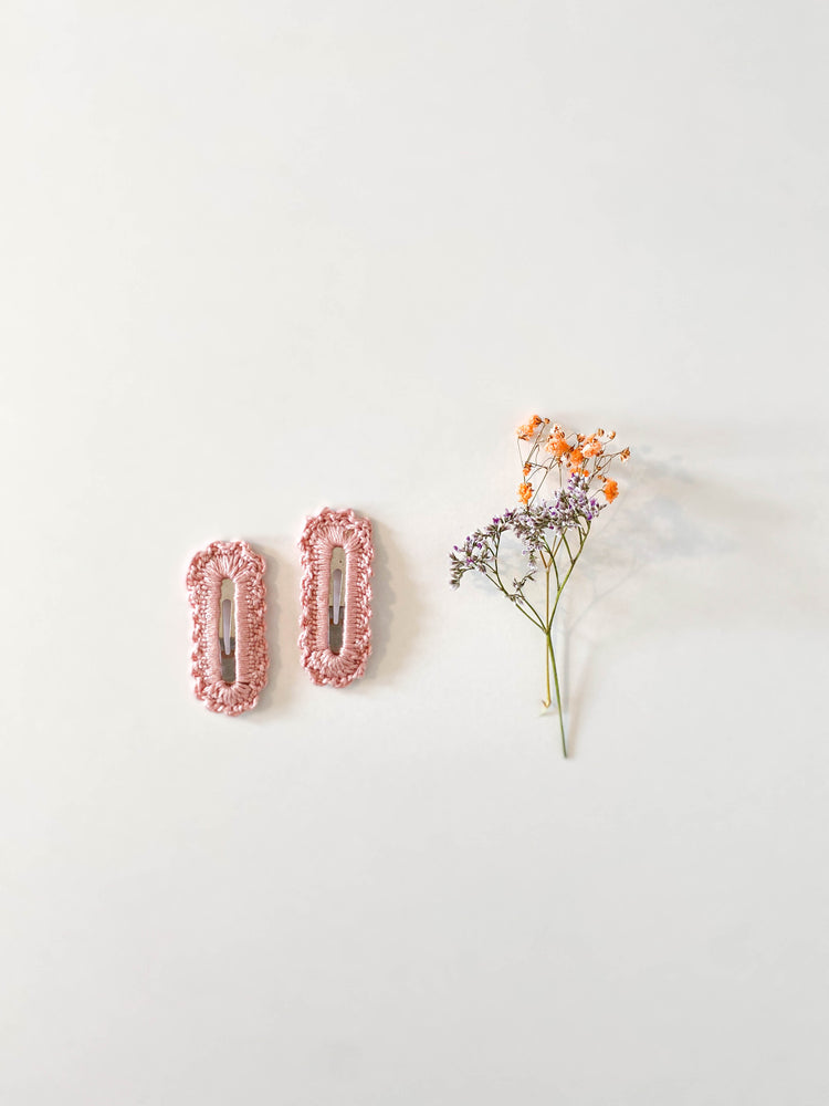 Hair Clips, Blush Square