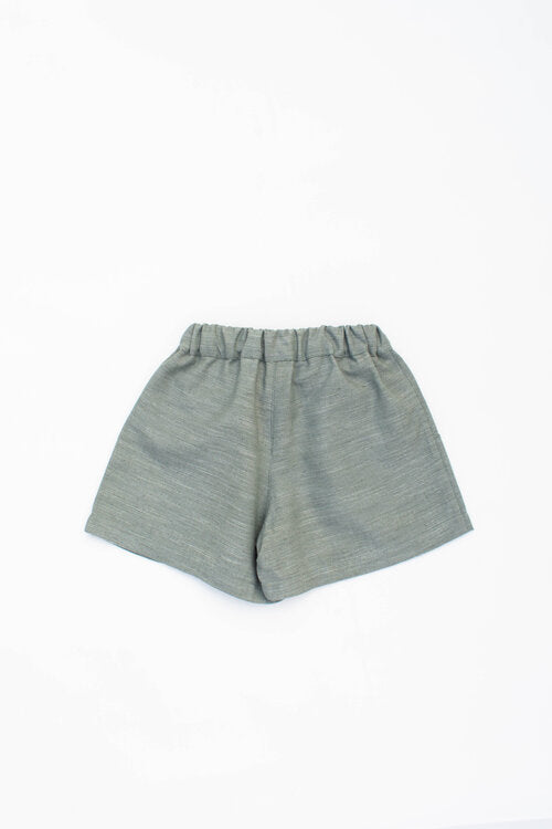 Olive Green  Linen Shorts - Indie