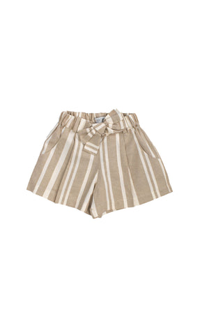 Load image into Gallery viewer, Beige Striped Shorts - Indie