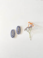 Hair Clips, Lilac Oval