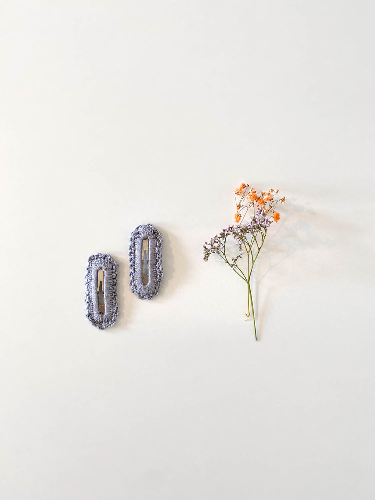 Hair Clips, Lilac Square