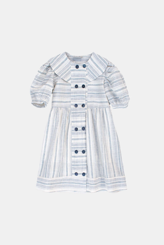 Blue Striped Dress - Linda