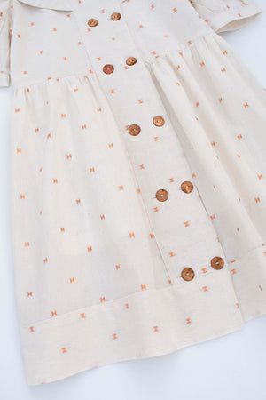 Dress With Copper Spots - Linda
