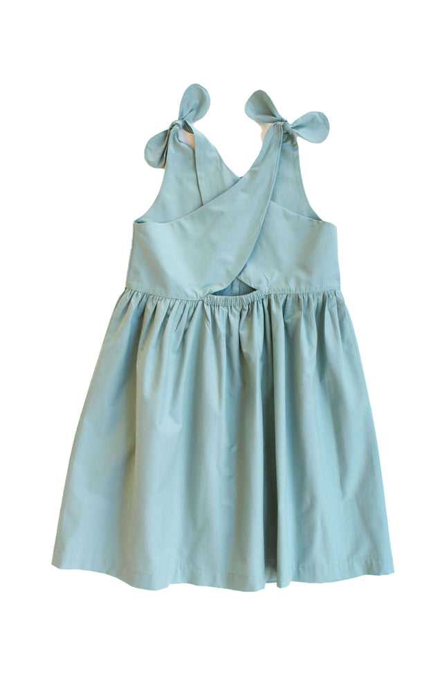 Seafoam Green Poplin Dress - Paros