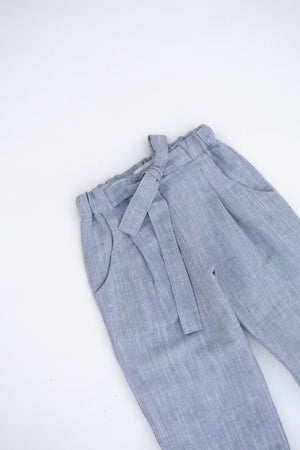 Load image into Gallery viewer, Blue  Linen Trousers - Sloane