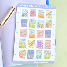 Load image into Gallery viewer, Happy Stamps Sticker Sheet