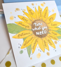 Load image into Gallery viewer, Take What You Need Sunflower - Art Print