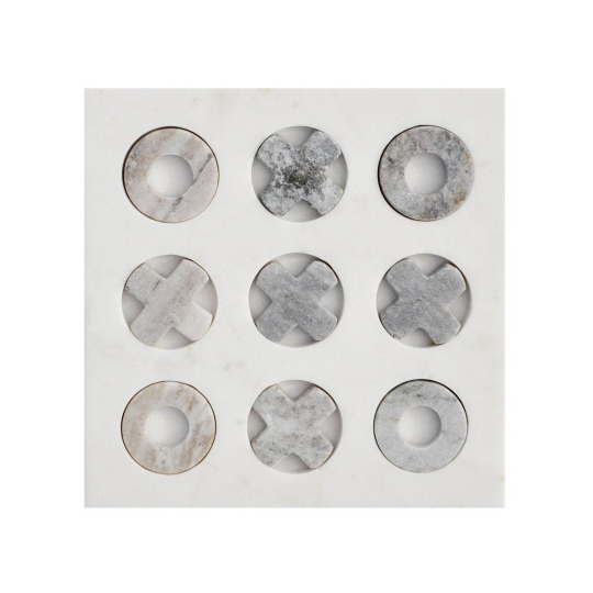 Handcrafted Marble Tic-Tac-Toe - 9x9