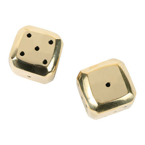 Solid Brass Beveled Dice