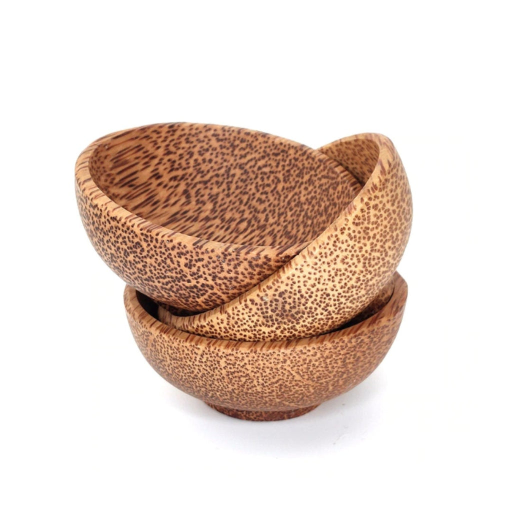 Coconut Wood Snack Bowls (set of 3)