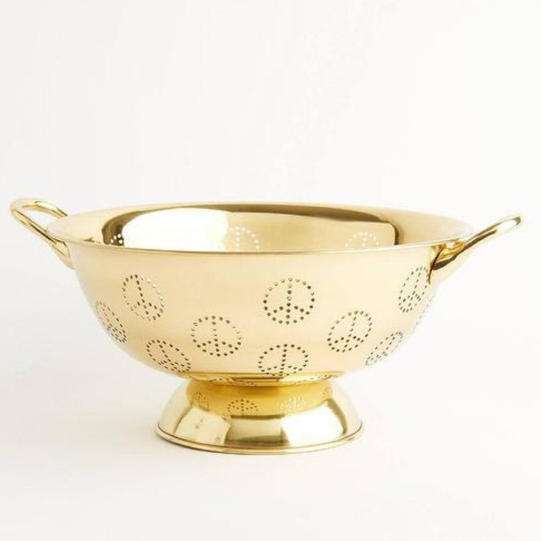Solid Brass Peace Colander