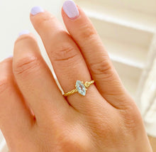 Load image into Gallery viewer, Twisted Marquise Initial Ring
