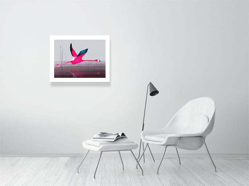 Flamingo print in shocking pink by Anna Jacobs