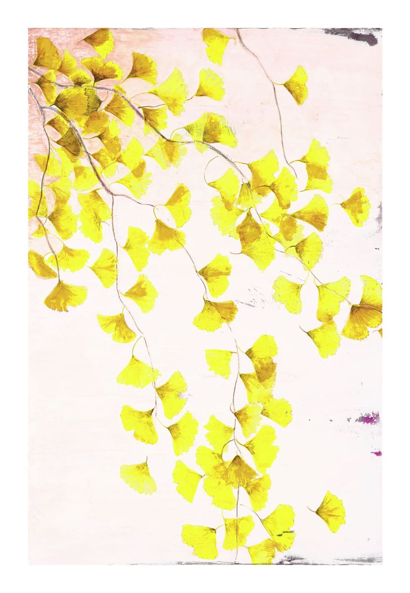 Ginkgo Tree in Yellow<br/>print