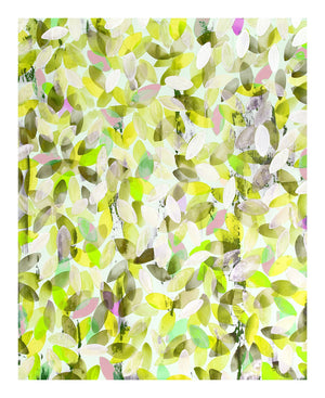 Abstract leaves print in yellow and green - Urban Fall in Spring - by Anna Jacobs