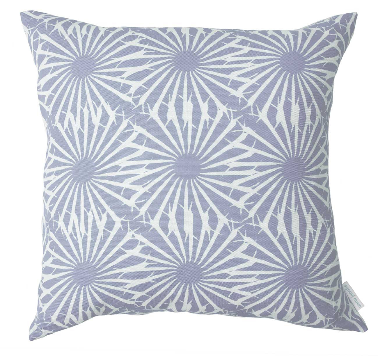 Beak Street in Dove<br />linen cushion