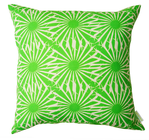 Beak Street in Grass<br />linen cushion