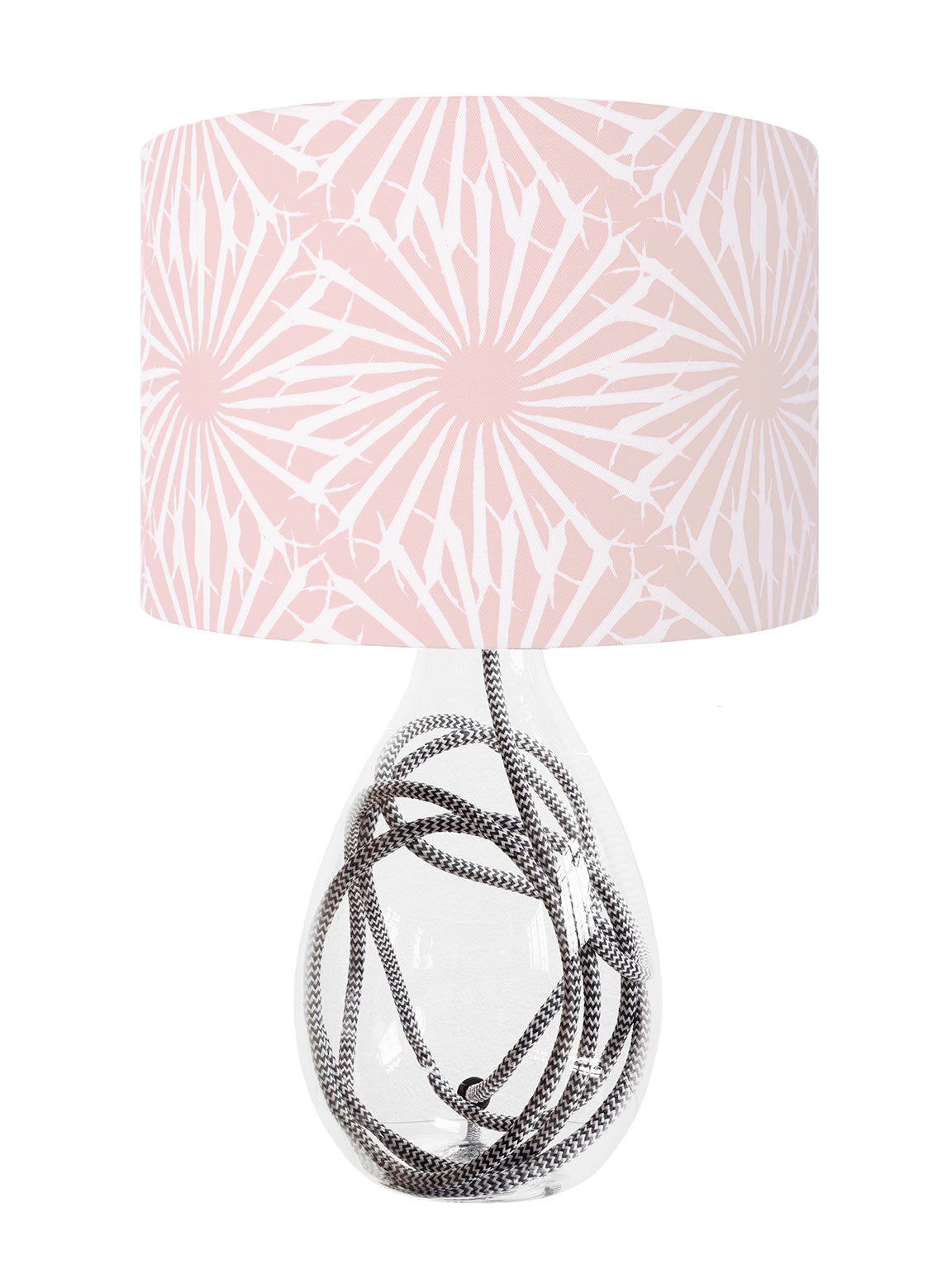 Beak Street in Rose<br />cotton lampshade