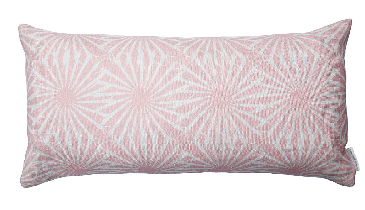 Beak Street in Rose<br />linen bolster