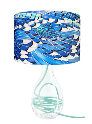 Blue Jay Wing lamp on Jade flex by Anna Jacobs - medium size