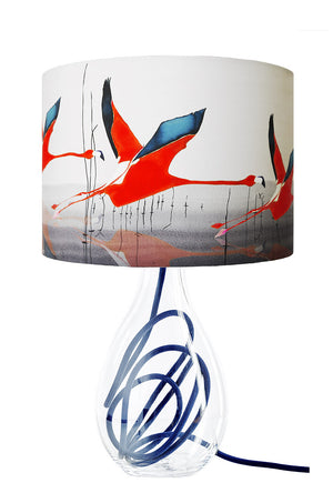 Breaking Dawn in Orange<br />silk lampshade