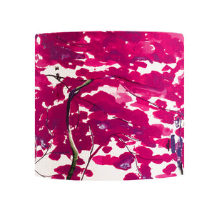 Chinese Tree in Pink and Violet lampshade by Anna Jacobs - small