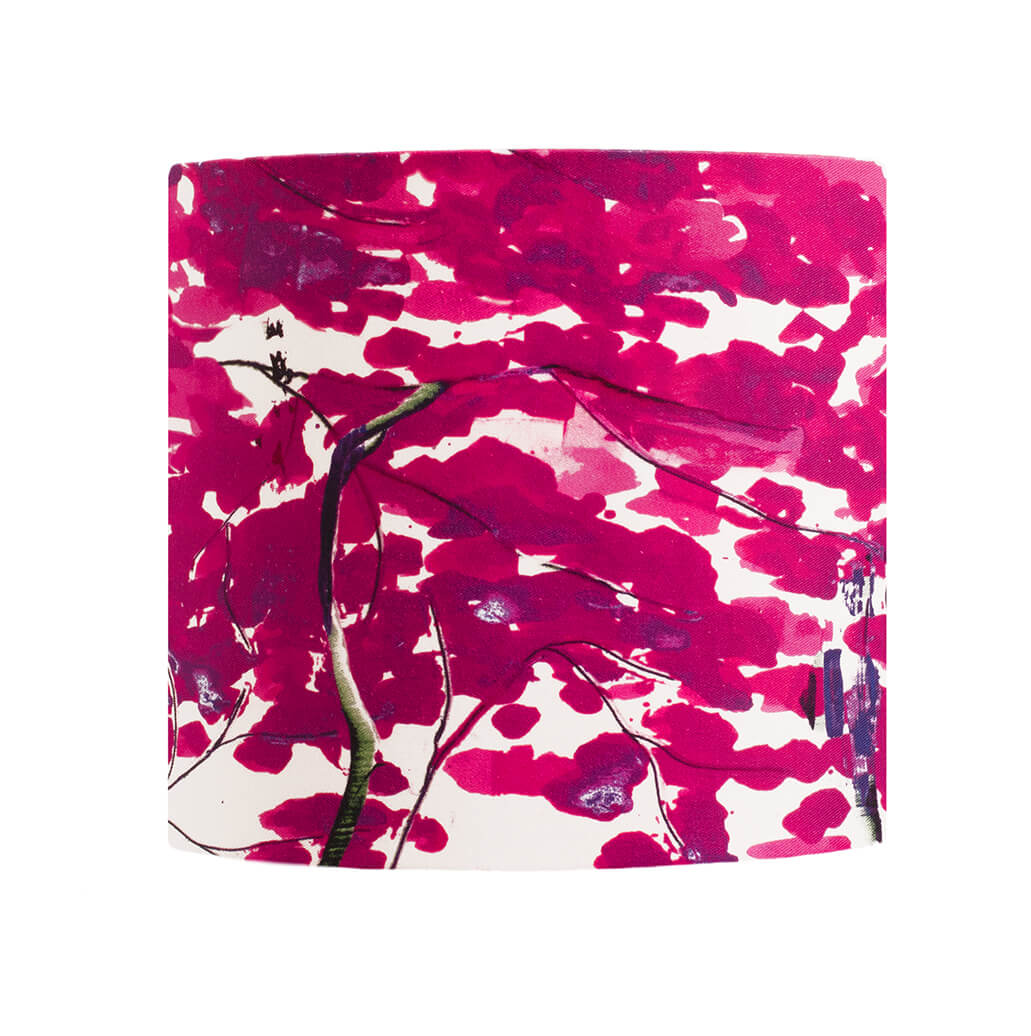 Chinese Tree in Pink and Violet lampshade by Anna Jacobs - large