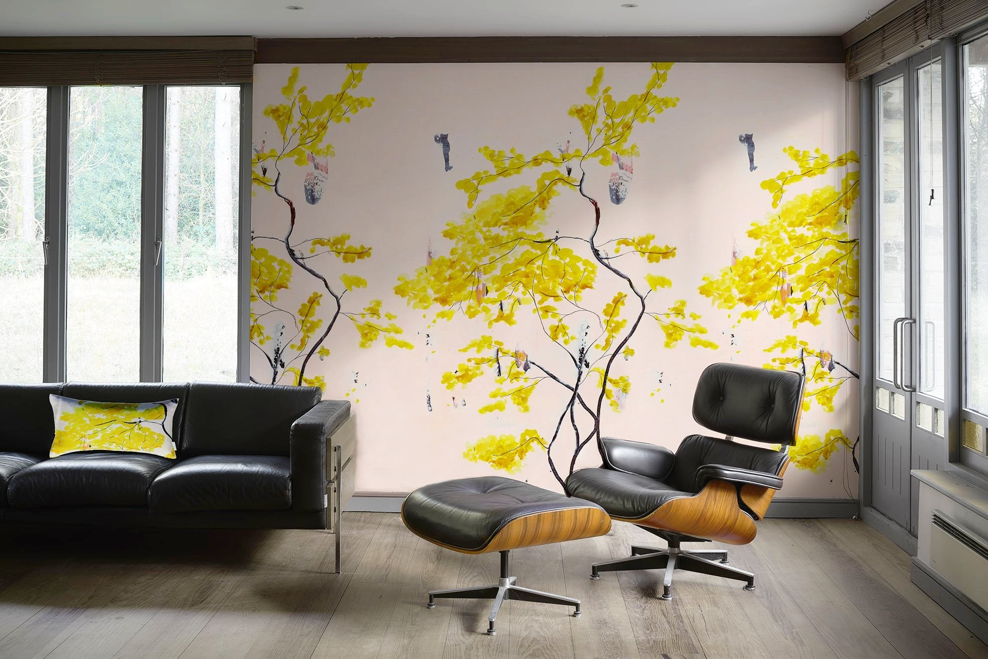 Chinese Tree in BlushMural wallpaper - Anna Jacobs