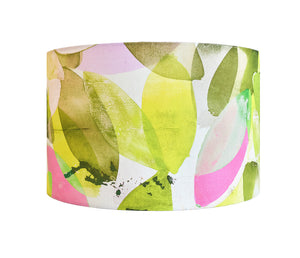 Falling Leaves in Spring<br />cotton lampshade