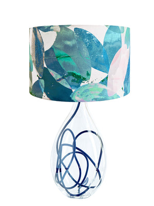 Falling Leaves in Winter large lamp on Indigo flex by Anna Jacobs