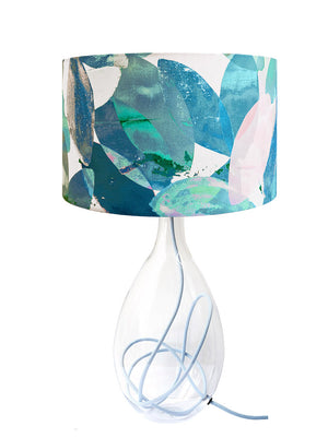 Falling Leaves in Winter large lamp on Powder Blue flex by Anna Jacobs