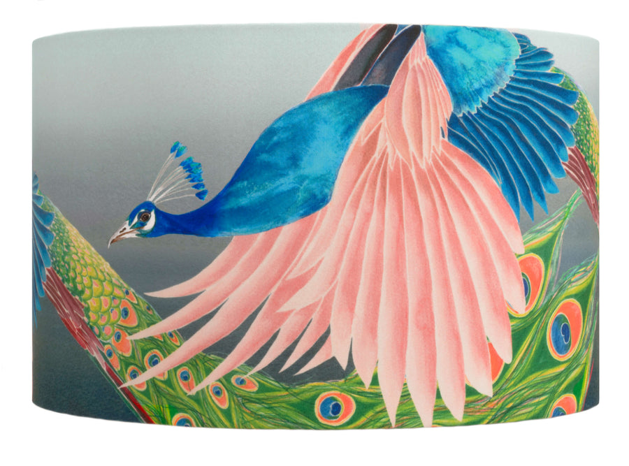 Peacock lampshade by Anna Jacobs - Flying Peacock - medium size cut out