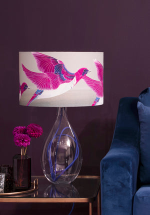 Violet Backed Starling<br />cotton lampshade