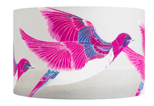 Starling lampshade - Violet Backed Starling lampshade by Anna Jacobs - large