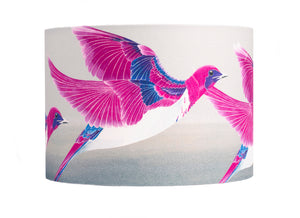 Starling lampshade - Violet Backed Starling lampshade by Anna Jacobs - medium